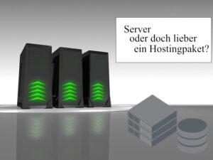 Server mieten oder lieber Webhosting? Was ist besser?